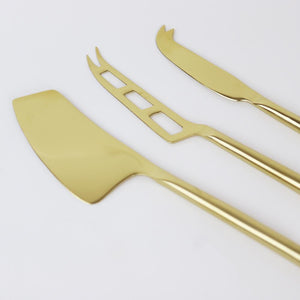 Gold Plated Cheese Knife Set