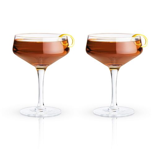 Classic Crystal Cocktail Coupes (Set of Two)