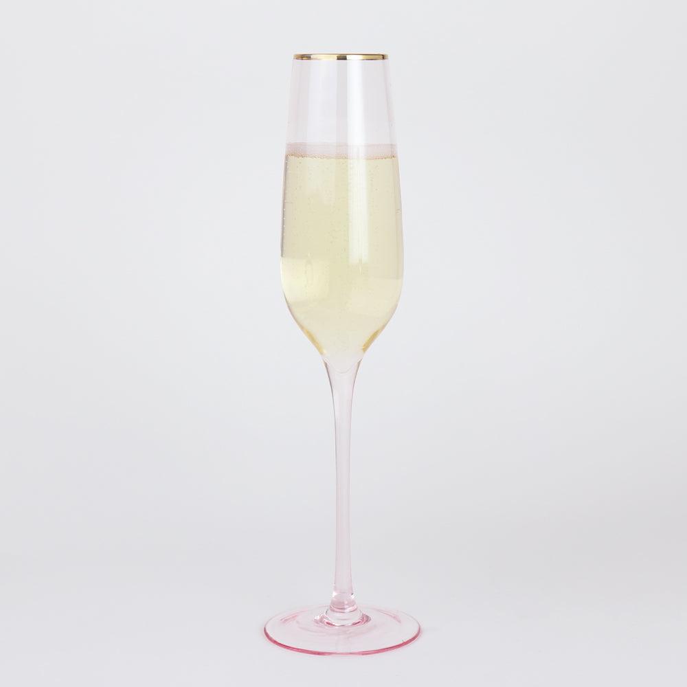 Wonderland Rose Crystal Champagne Flutes (Set of 2)