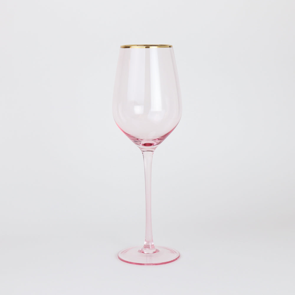 Wonderland Rose Crystal Wine Glasses (Set of 2)