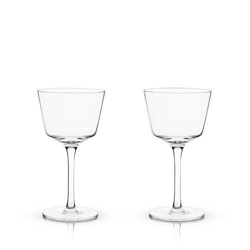 Crystal Nick & Nora Glasses (Set of 2)