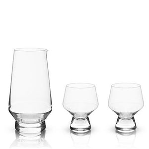 Faceted Crystal Sake Set