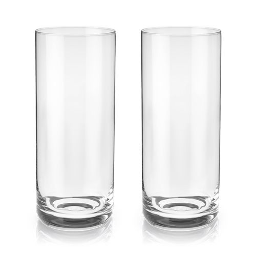 Classic Crystal Highball Glasses (Set of 2)