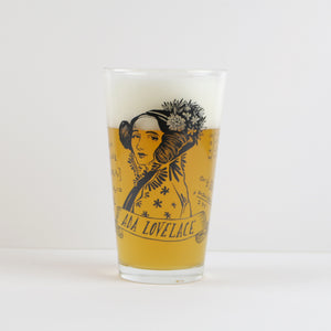Ada Lovelace Pint Glass (Set of 2)