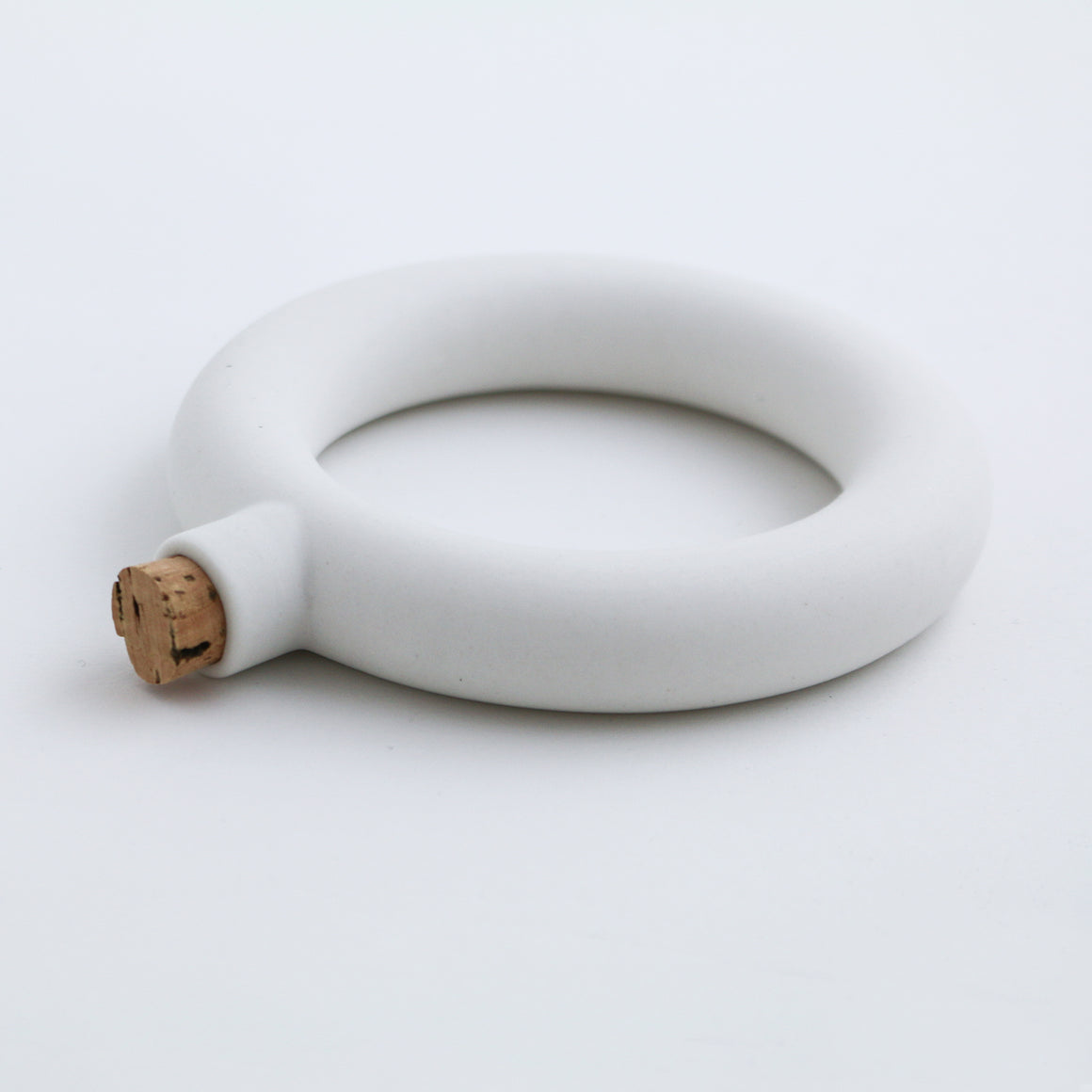Porcelain Bracelet Flask (White)