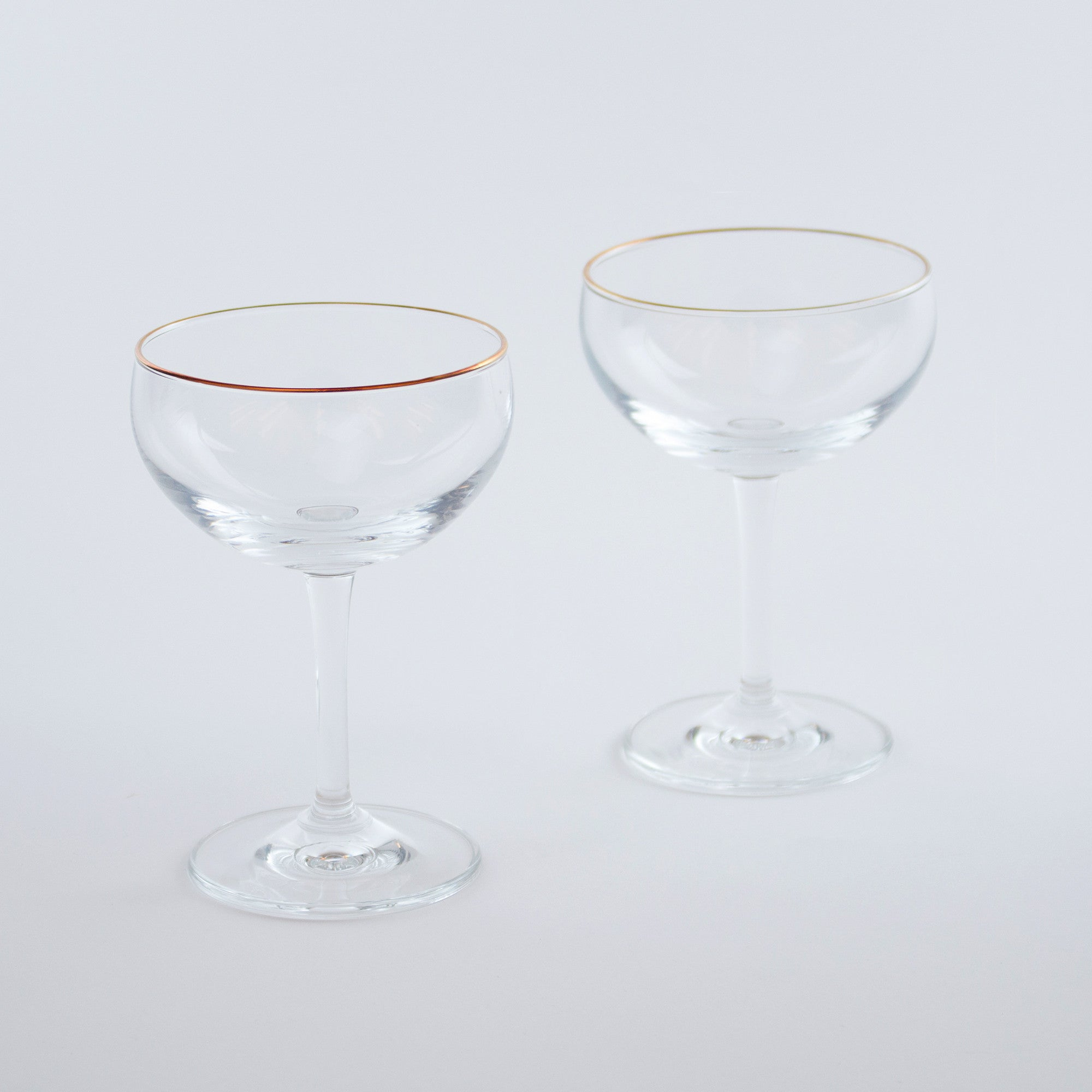 Leopold Gold-Rimmed Coupe Glass (Set of 6)