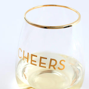Cheers Stemless Wine Glass (Set of 2)