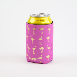 Pink & Gold Flamingo Koozie