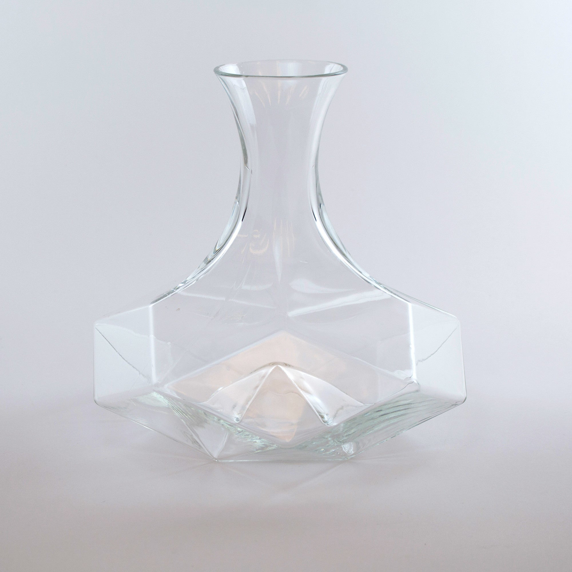 The Geometric Crystal Decanter is our best-selling decanter for wine