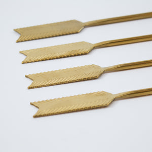 Retro Gold Arrow Swizzle Sticks (Set of 4)