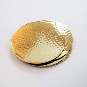 Hammered Brass Coasters (Set Of 4)
