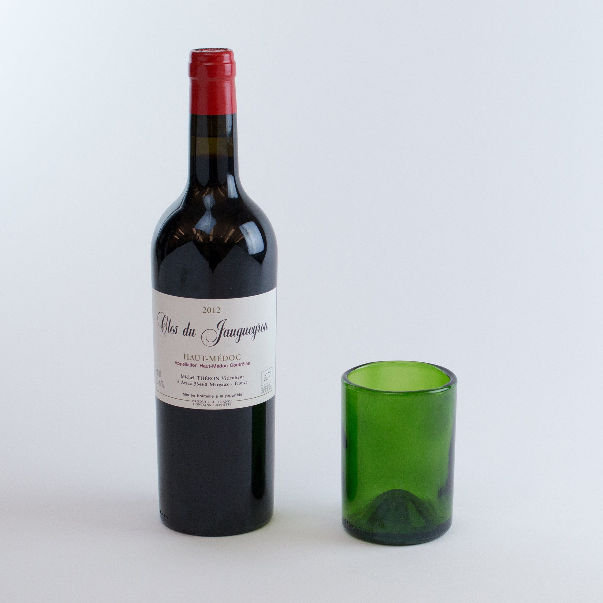 recycled wine bottle tumblers (set of 4) - the vinepair store