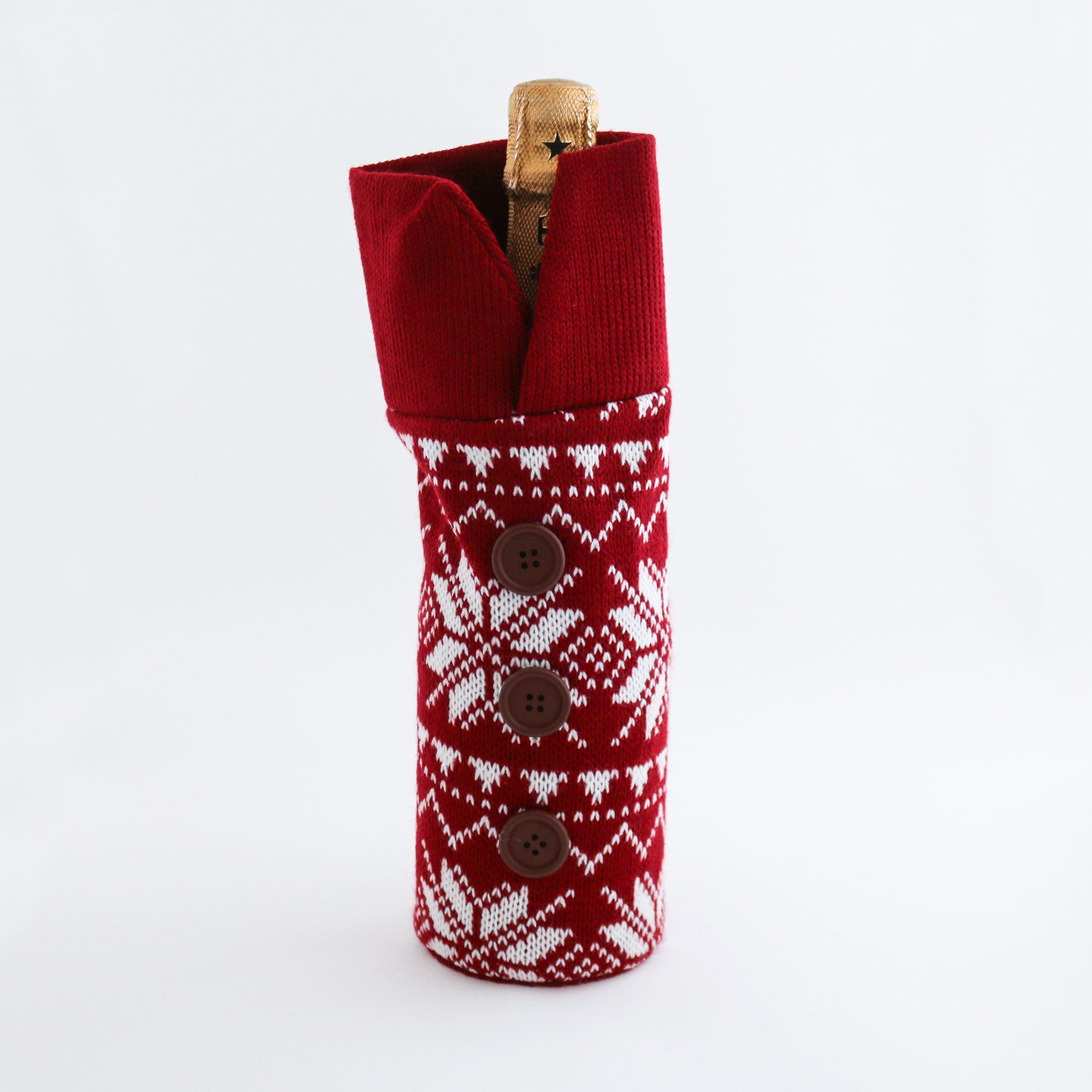 Full Wine Bottle Knit Holiday Sweater - The VinePair Store