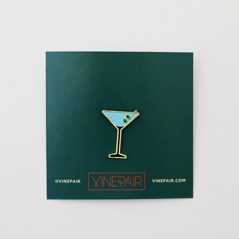 Martini Enamel Pin