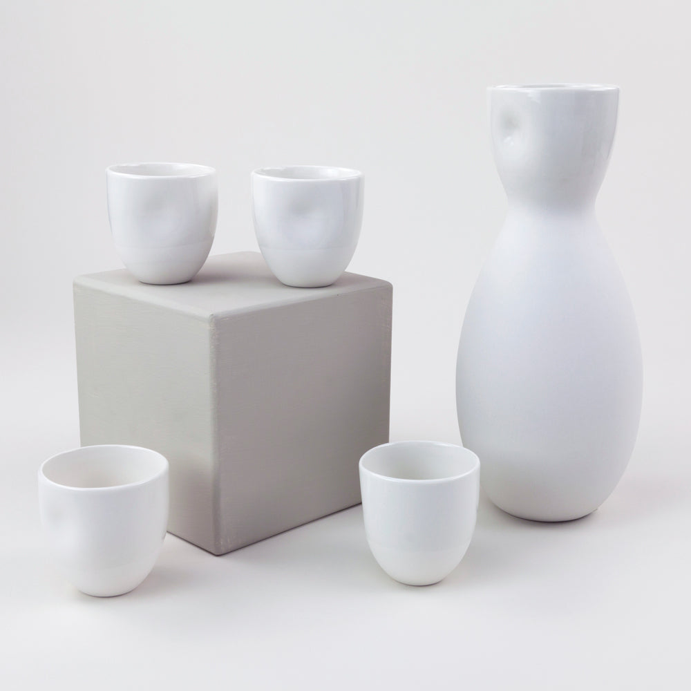 Ceramic Sake / Wine Cups (White)