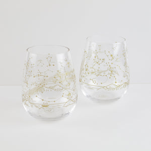Northern Hemisphere Night Sky Stemless Wine Glass (Set of 2)