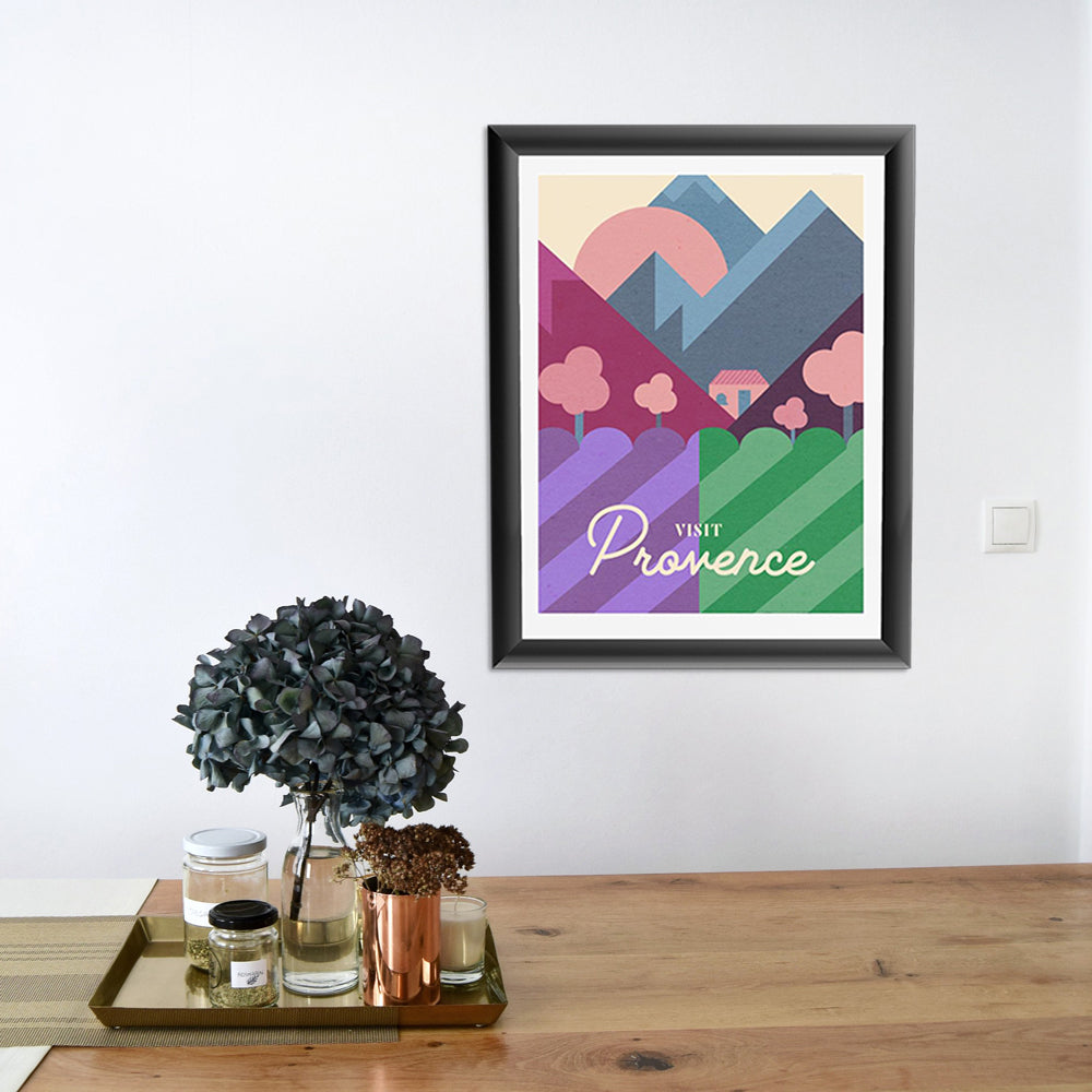 Provence Wine Travel Poster