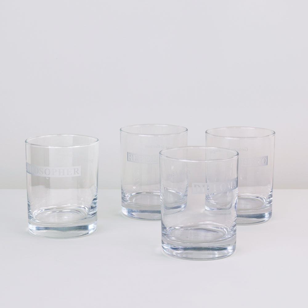 The Hero / Rebel Double Rocks Glass Set