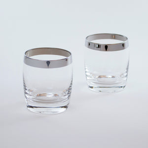 Silver Trim Danuta Double Rocks Glass (Set of 4)