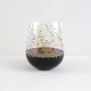 Southern Hemisphere Night Sky Stemless Wine Glass (Set of 2)