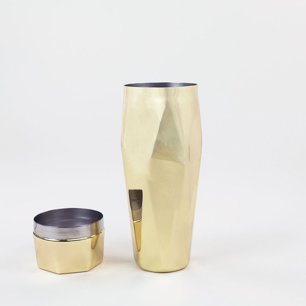 Gold Faceted Cocktail Shaker