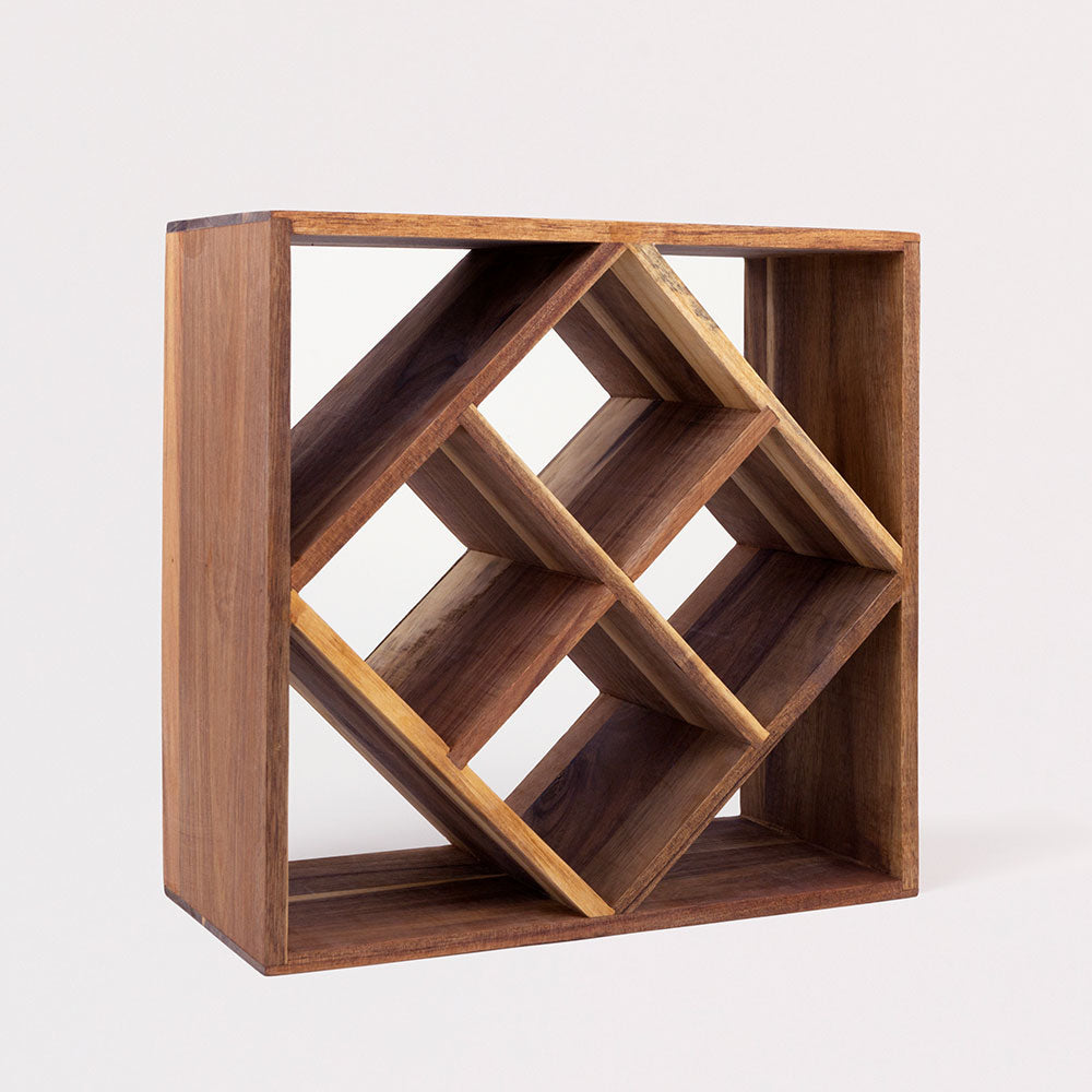 Lattice Cube Wine Rack