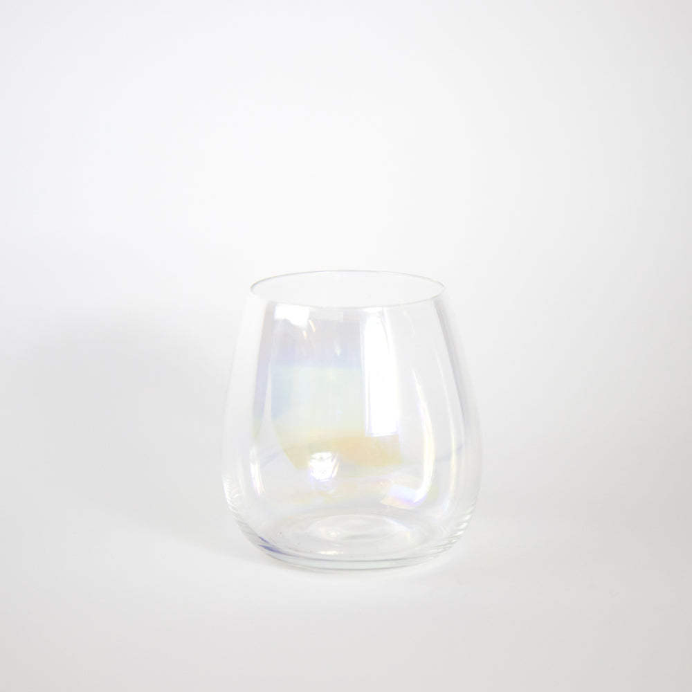 Rainbow Shimmer Stemless Wine Glass