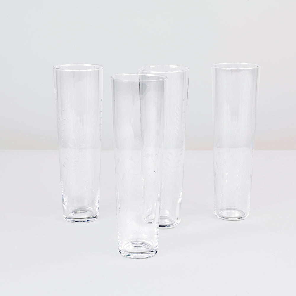 Etched Tuscan Champagne Glasses (Set of 6)