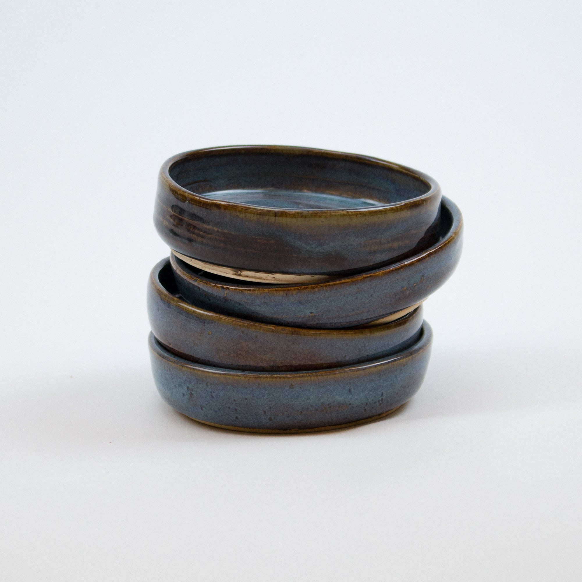 Ceramic Wine Bottle Coaster (Blue Rutile)