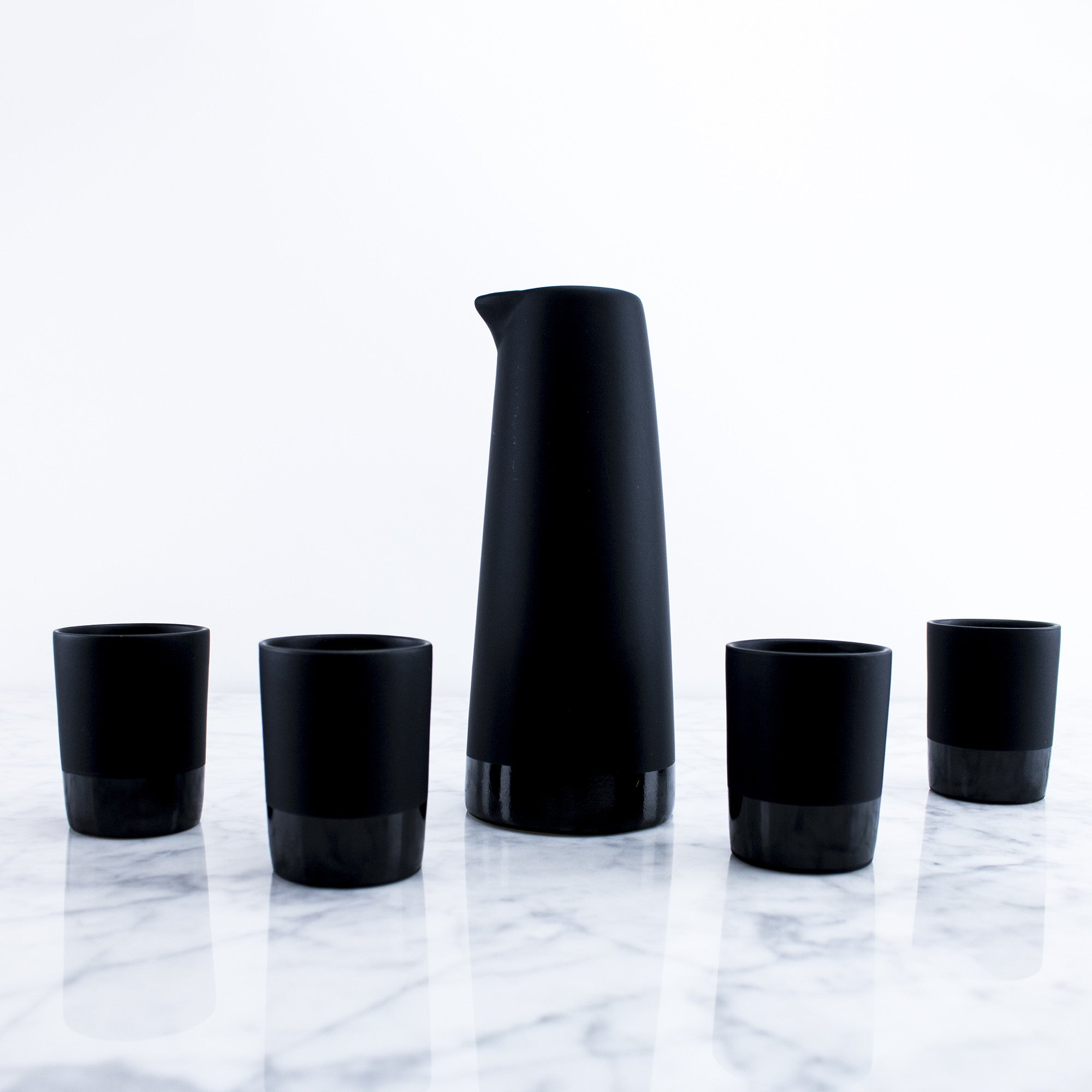 Traditional Stone Sake Set