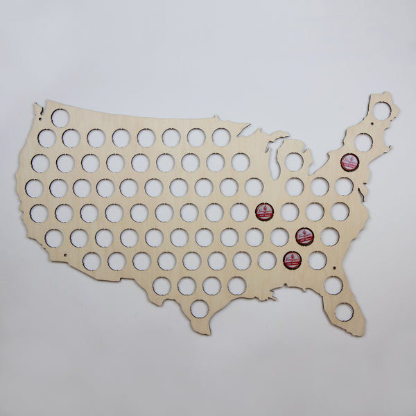 US Country And State Beer Cap Maps The VinePair Store - Us beer cap map