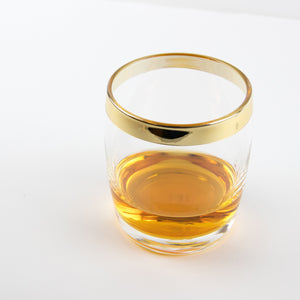 Gold Trim Danuta Double Rocks Glass (Set of 4)