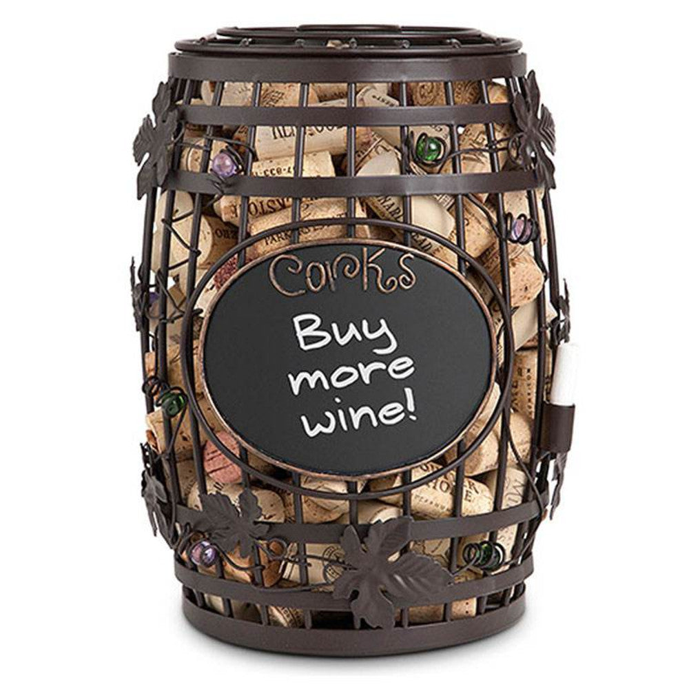 Chalkboard Barrel Wine Cork Holder