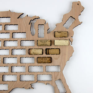 US Country and State Wine Cork Maps