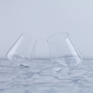Rotating Crystal Wine Glass (Set of 2)