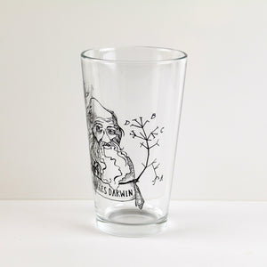 Charles Darwin Pint Glass (Set of 2)