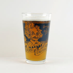 Albert Einstein Pint Glass (Set of 2)