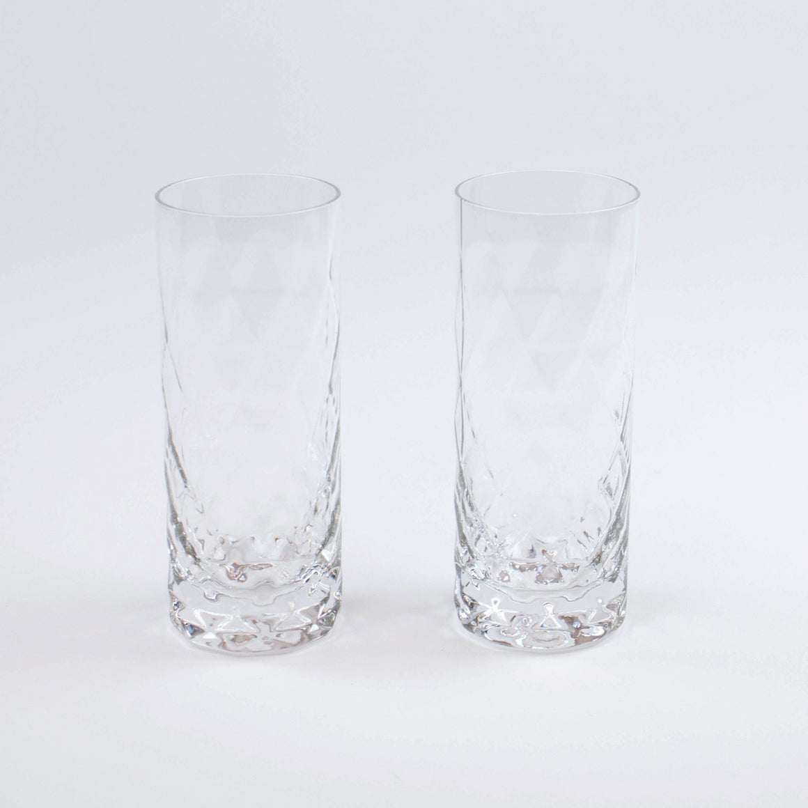 Mid-Century Modern Crystal Highball Glass (Set of 2)