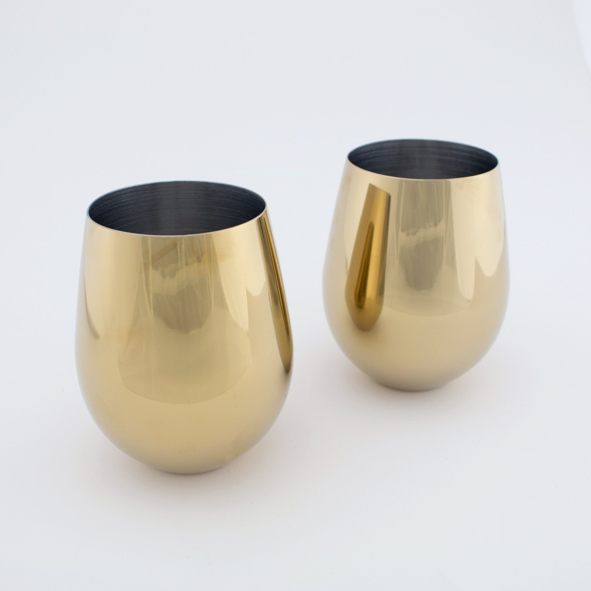 Gold Stemless Wine Glass (Set of 2)