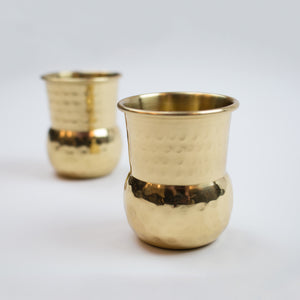 Hammered Brass Shot Glass (Set of 2)