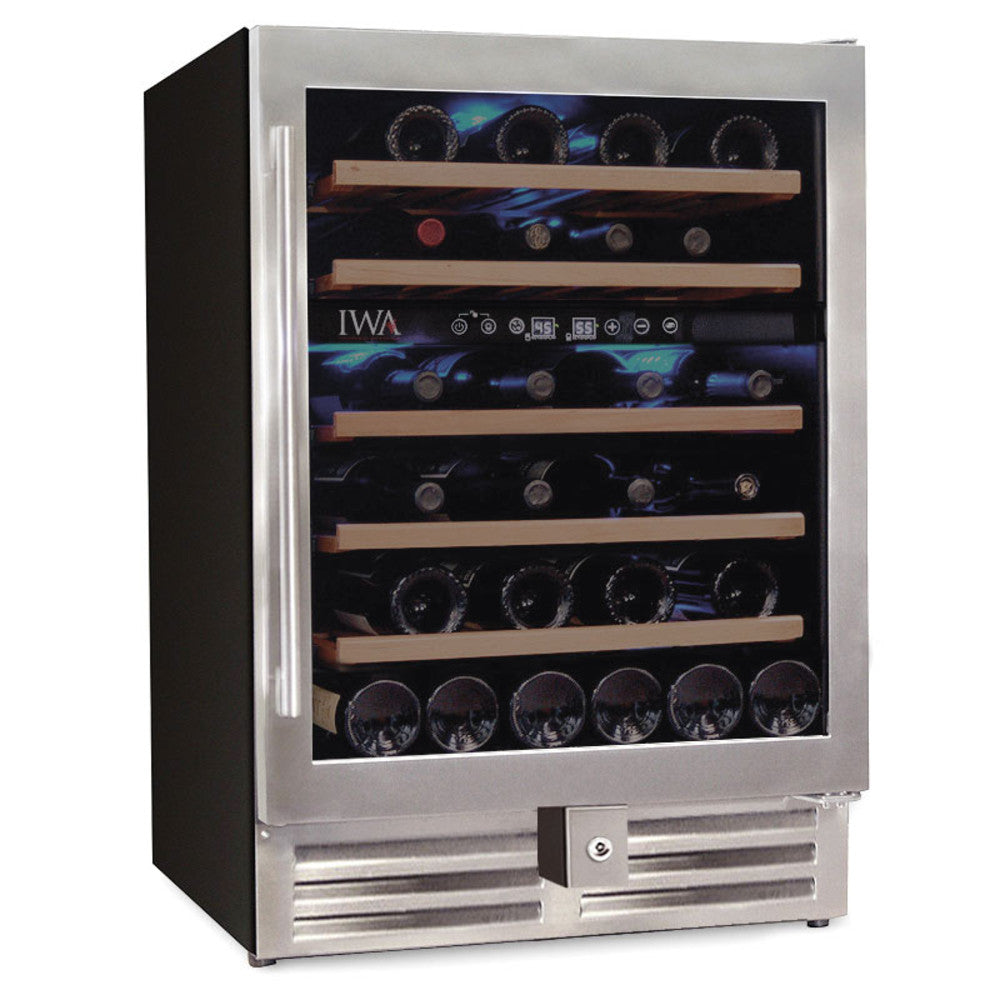 The Grand Reserve Dual-Zone Wine Fridge (46 Bottle)