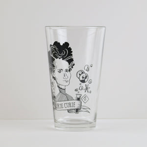 Marie Curie Pint Glass Set (Set of 2)