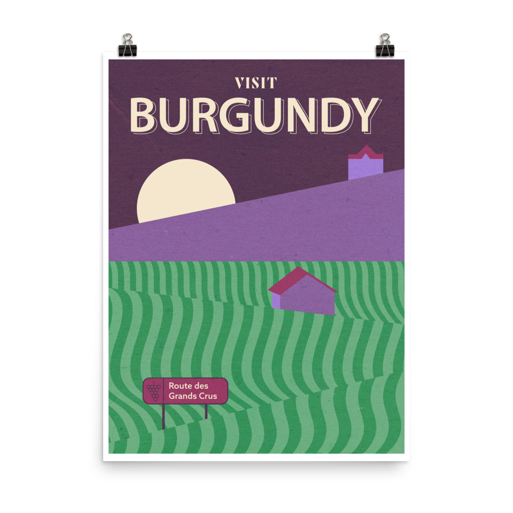 Burgundy Wine Travel Poster