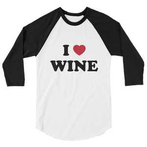 I Heart Wine Baseball Shirt