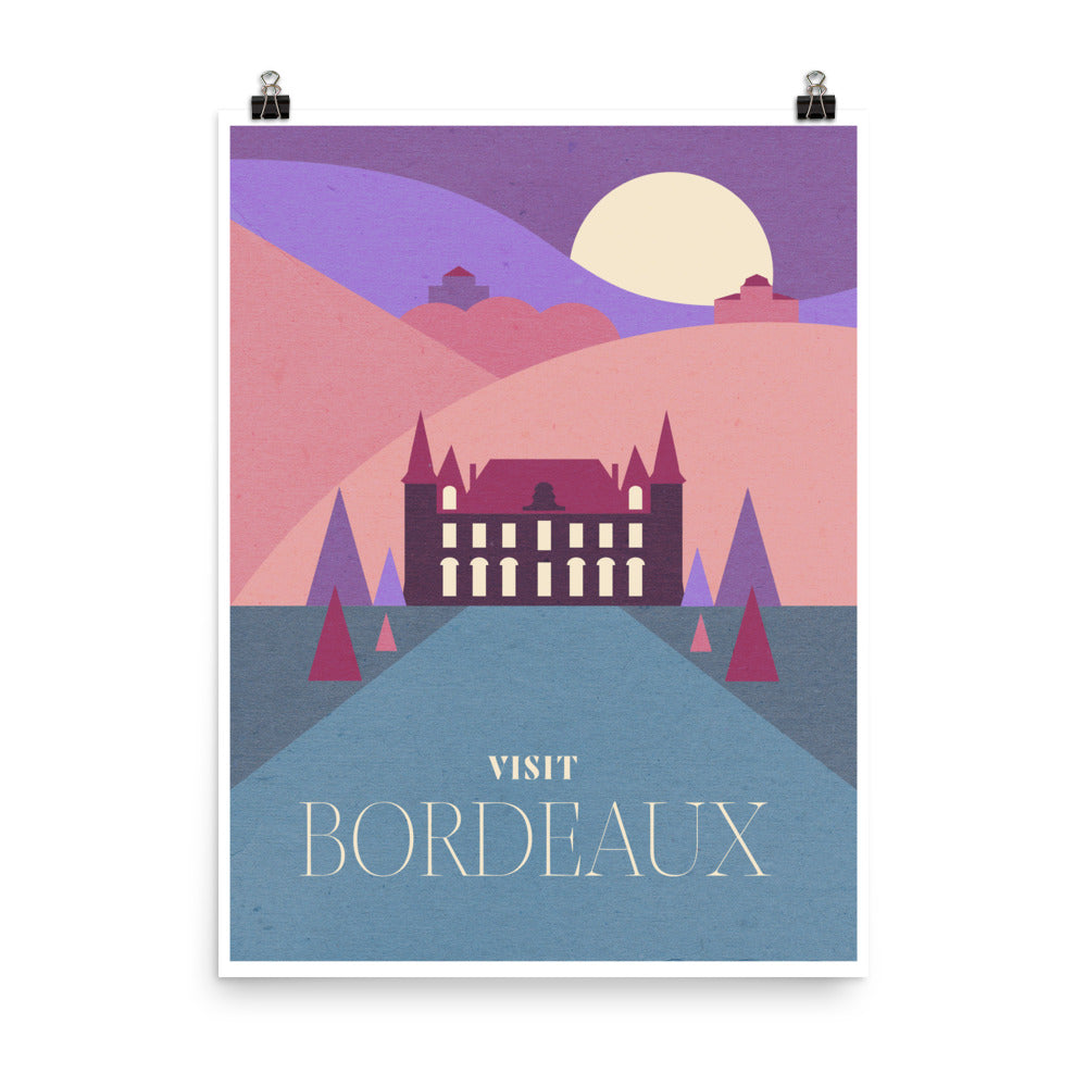 Bordeaux Wine Region Travel Poster
