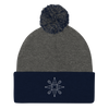 Let It Snow Wine - Pom-Pom Knit Cap