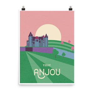 Anjou Wine Travel Poster