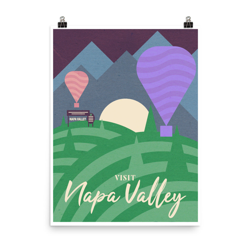 Napa Valley Wine Travel Poster