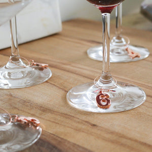 Copper Counting Wine Charms (Set of 6)