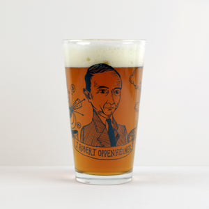 J. Robert Oppenheimer Pint Glass (Set of 2)